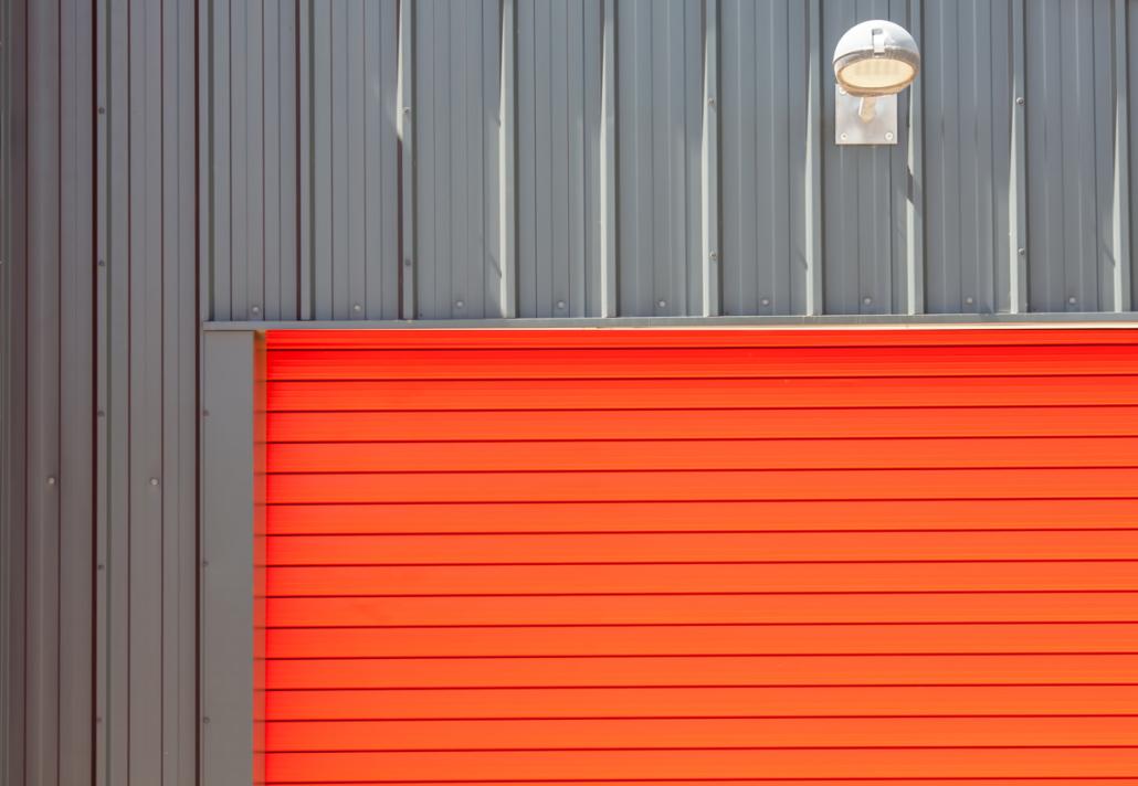 Orange Residential Garage Door